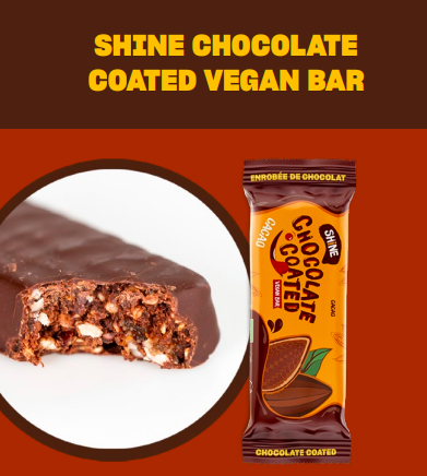 SHINE CHOCOLATE COATED VEGAN BAR